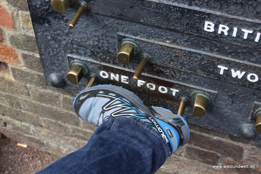"""In Greenwich wurden Maßeinheiten wie """"ein Fuß"""" definiert: Passt doch ziemlich genau..."""