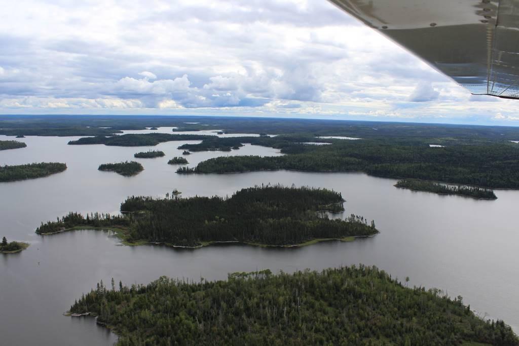 Erster Blick auf den Otter Lake.