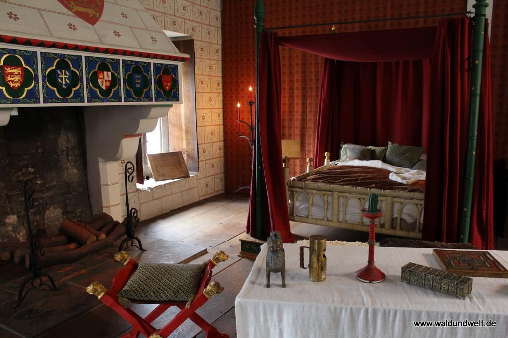 Mitglieder des Hofes nächtigten auch im Mittelalter mit allerlei Komfort.