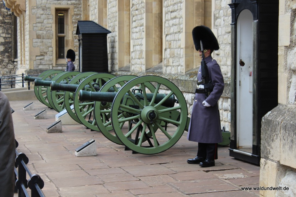 Die Wachen, die sich stundenlang nicht bewegen, gehören zu London einfach dazu - auch im Tower.