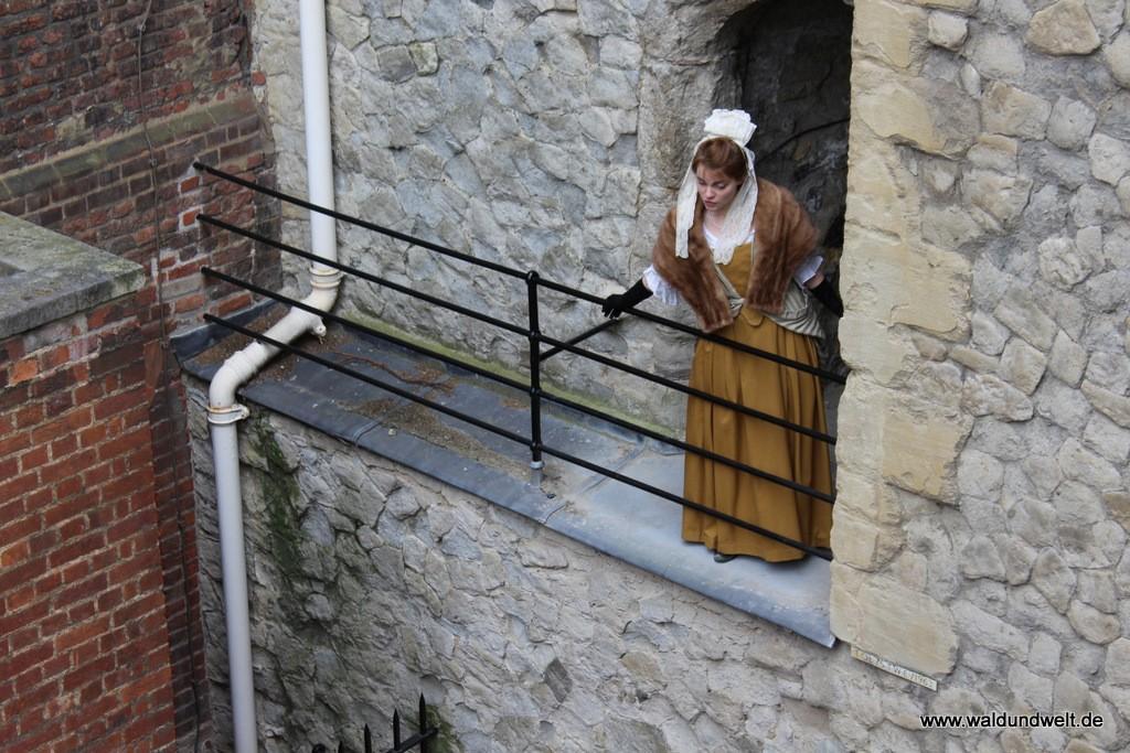 Ab und zu werden im Tower auch Szenen der Geschichte von Schauspielern für die Besucher nachgespielt.