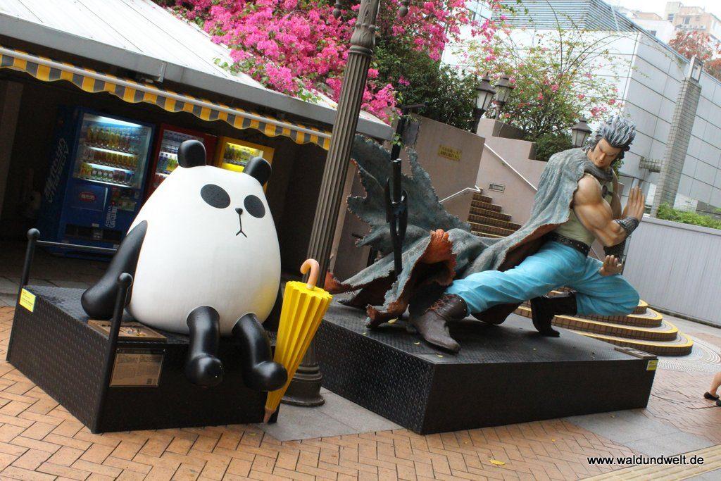 Manga-Figuren im Kowloon Park