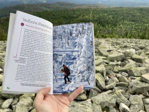 Foto von einer Seite im Buch Glücksorte im Bayerischen Wald