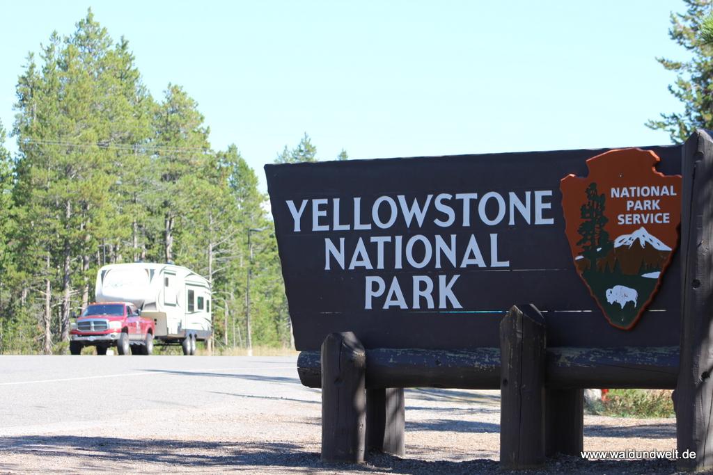 Westlicher Eingang in den Yellowstone Nationalpark